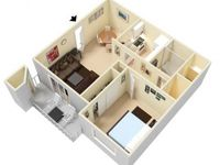 $555 / Month Apartment For Rent