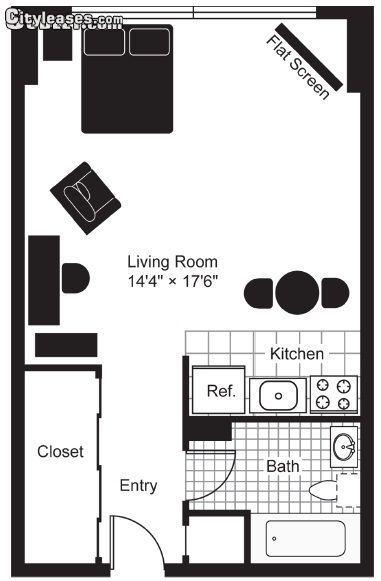 Studio Bedroom In Olney - Oak Lane