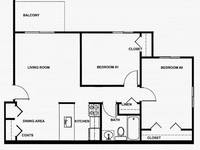 $505 / Month Apartment For Rent: Two Bedroom - Admiral I Porter Apartments   ID:...