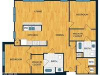 $4,350 / Month Apartment For Rent: Beds 2 Bath 2 Sq_ft 1488- Luxury 2 Bedroom 2 Ba...
