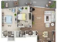 $1,530 / Month Apartment For Rent