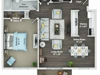 $1,310 / Month Apartment For Rent